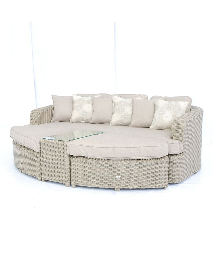 Resin Wicker Outdoor Daybed Sofa