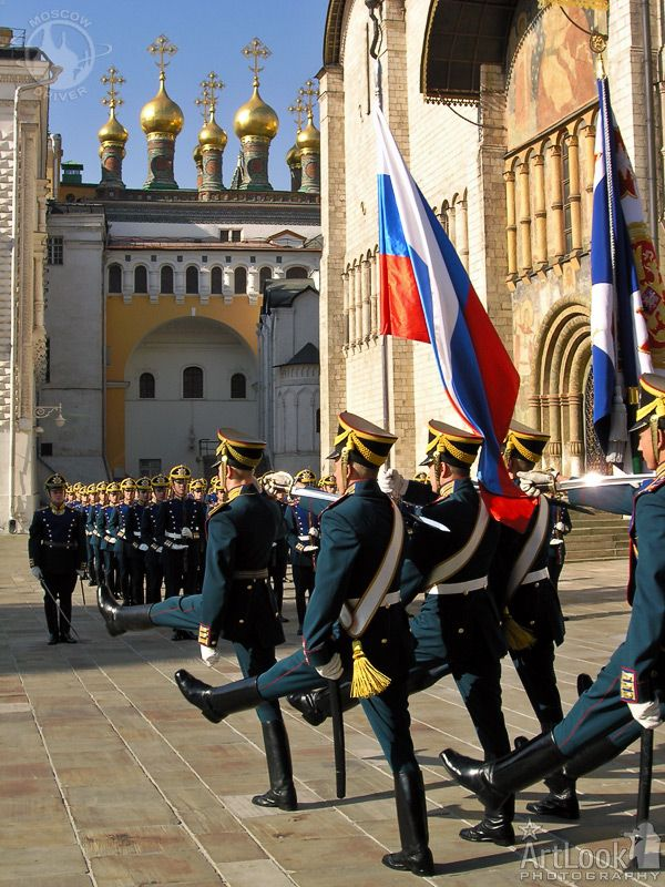 Guard Mounting Ceremony at the Moscow Kremlin, Russia.