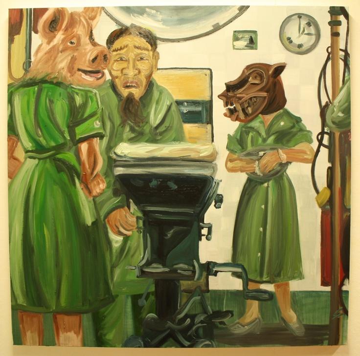 """""""Scrub In"""" 2013, oil on canvas"""