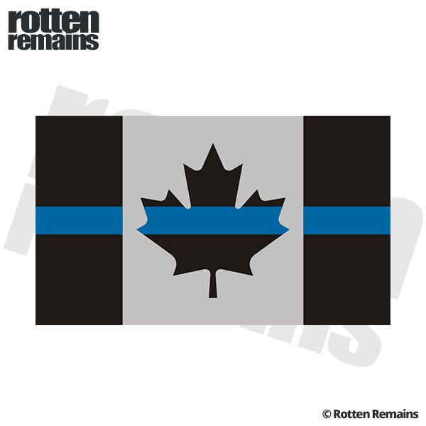 Thin Blue Line Canada Subdued Flag Canadian Police Sticker Decal