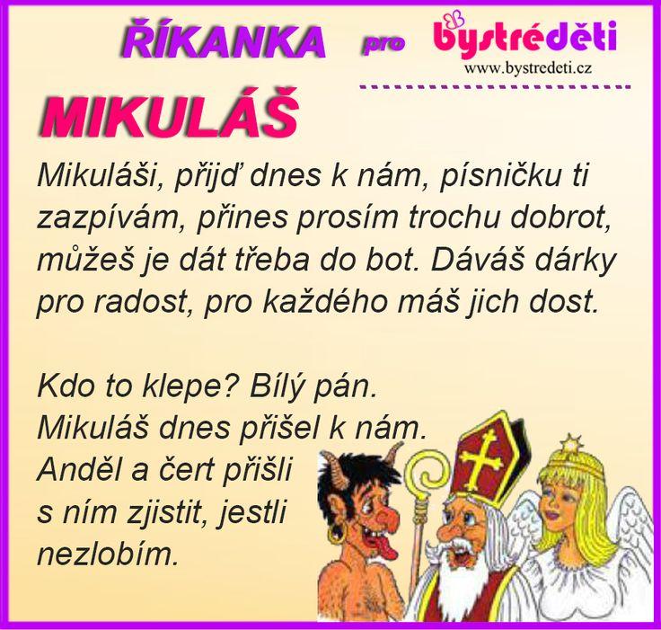 Říkanka pro bystré děti - Mikuláš, čert a Anděl