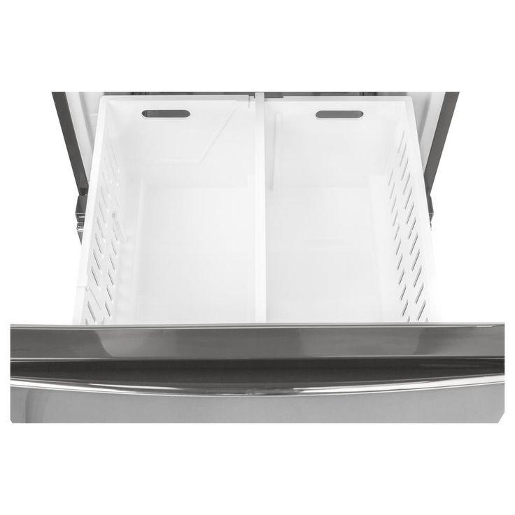 Ge 119 cu ft bottomfreezer refrigerator in stainless