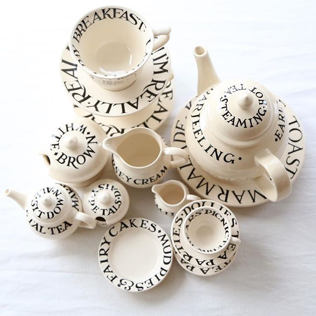 Words and dishes!!!!  Emma bridgewater