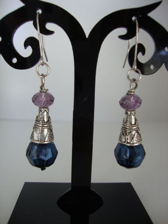 A Pair of Bead and Metal Earrings