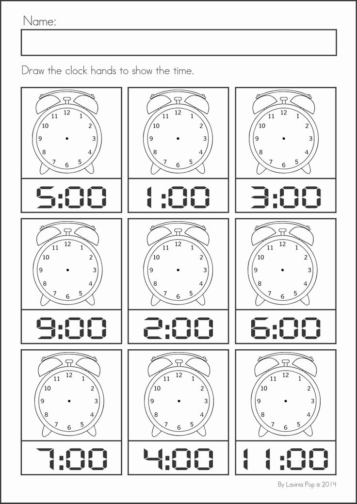 Kindergarten SUMMER Review Math & Literacy Worksheets & Activities. 104 pages. A page from the unit: draw the clock hands
