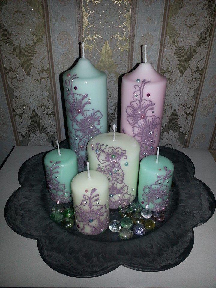 versierde kaarsen