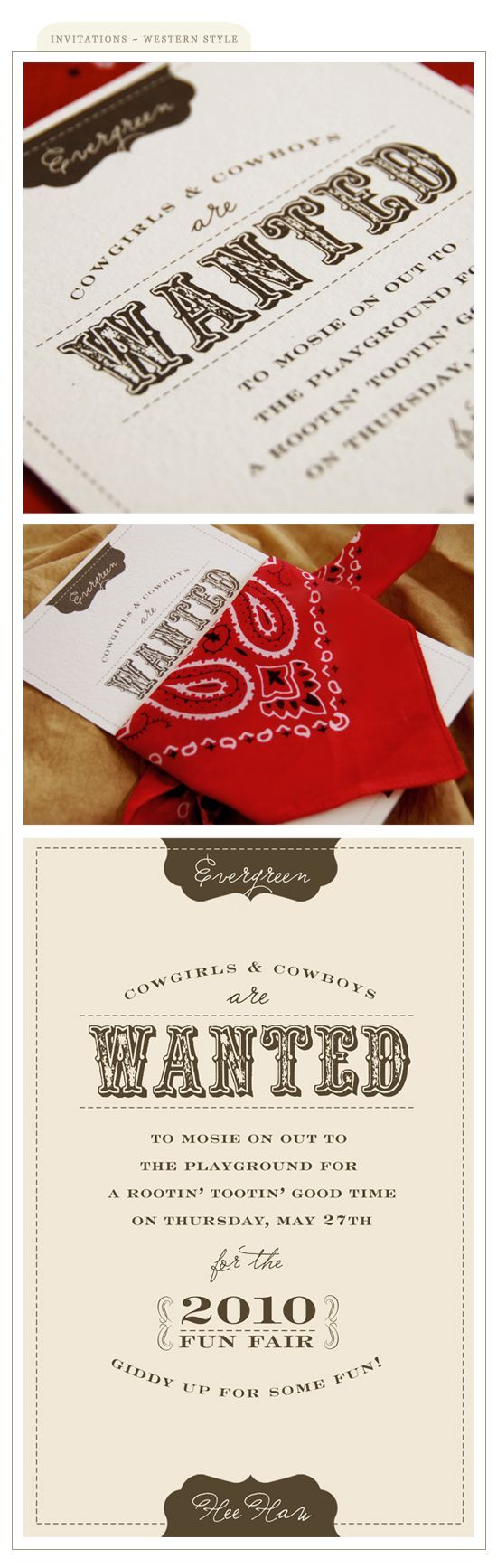 cowboy themed birthday invitation  (Ann Marie this made me think of P)