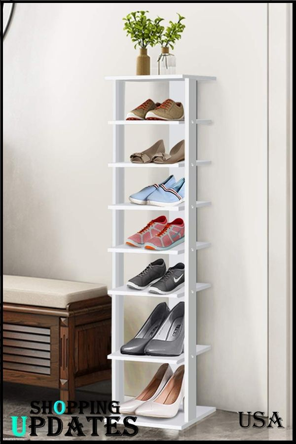 Wooden Shoes Racks Entryway Shoes Storage Stand Modern 7 Tiers