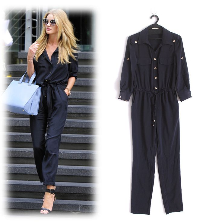Best 20  Long sleeve black jumpsuit ideas on Pinterest | Class ...