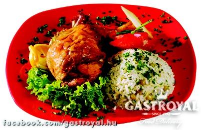 Sült csirkecomb, petrezselymes rizzsel  Várjuk rendelésedet 14 óráig:  http://www.gastroyal.hu/rendeles/etlap