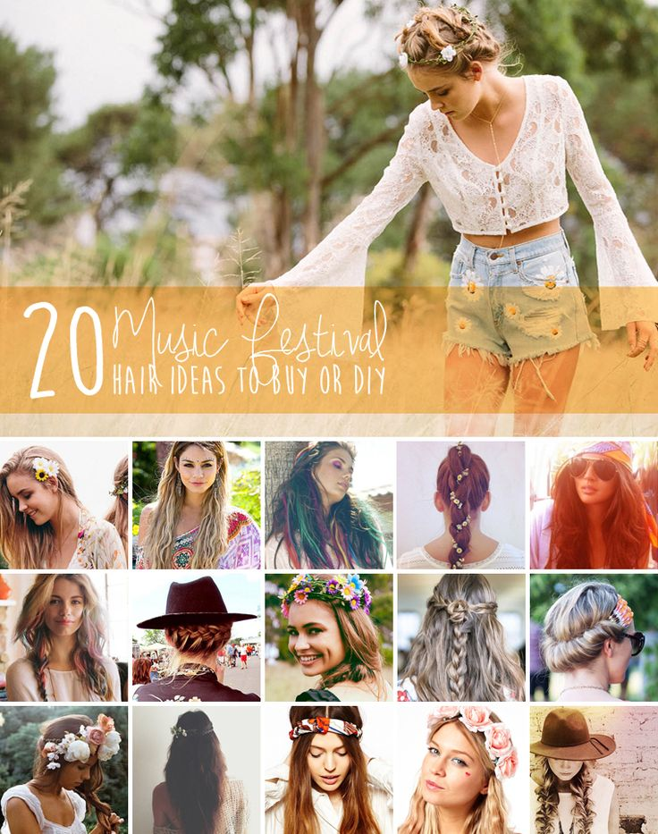20 summer music festival hair and fashion ideas to buy or diy, perfect for coachella outdoor summer concerts. my fave is the hair chalk diy :)