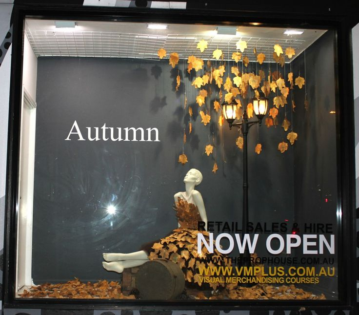Autumn Window Display + VM Training, VM+,Bribane, Australia, pinned by Ton van der Veer