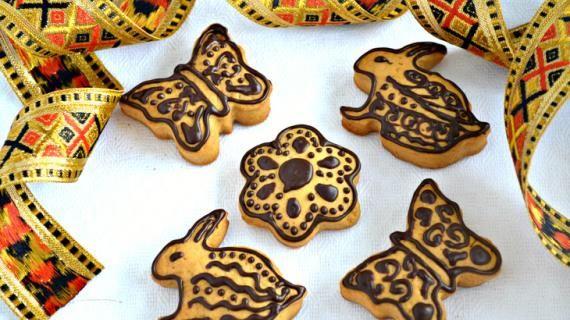 Пасхальное подарочное печенье