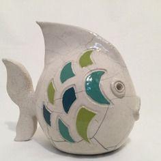 Raku poisson en céramique émaillée                                                                                                                                                                                 Plus