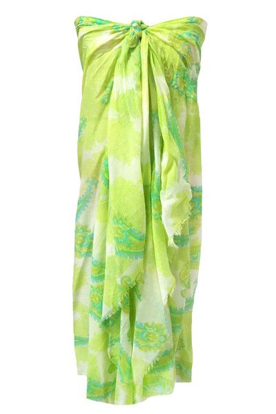 Spun by Subtle Luxury Athena Sarong Wrap in Lime