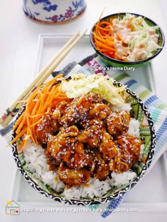 Citra's Home Diary: Sesame Chicken Rice Bowl