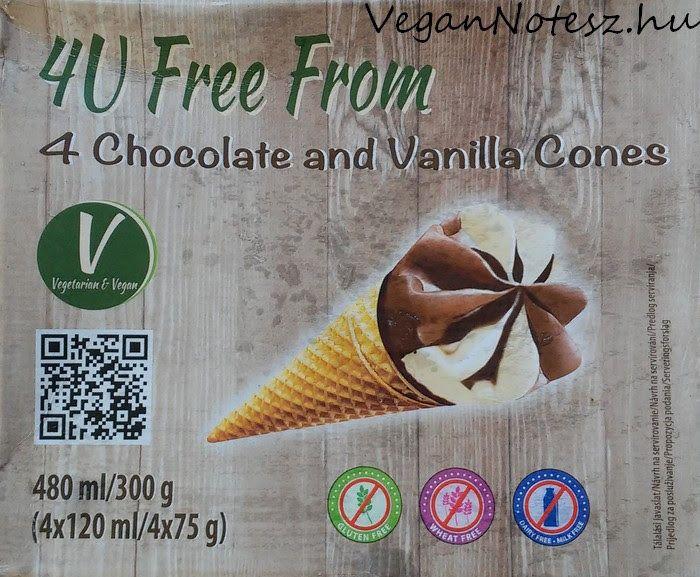 VeganNotesz.hu - vegán receptek, terméktesztek: Termékteszt: 4U Free From Chocolate and Vanilla jégkrém