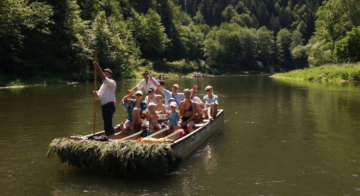 Traditional wooden rafts of wood-cutters in Pieniny, Slovakia
