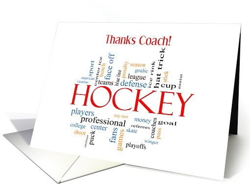 Thanks Hockey Coach from Group card (1201452)