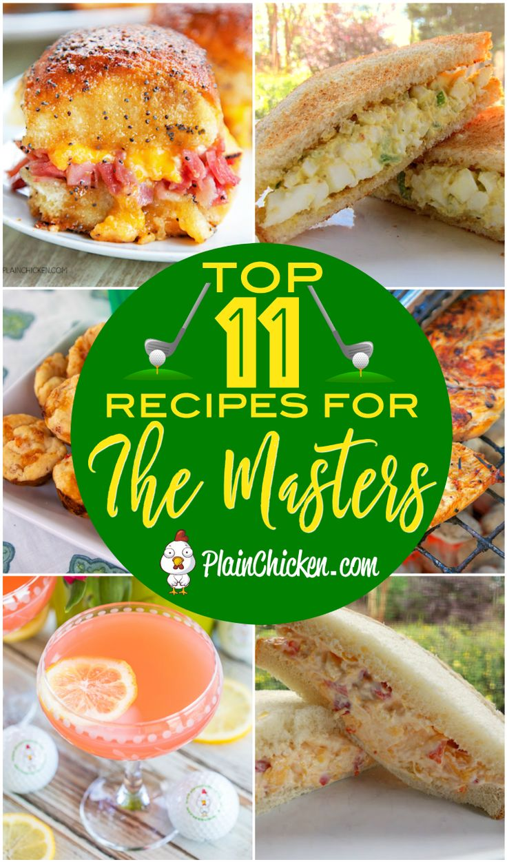 Recipes for watching The Masters golf tournament – egg salad, pimento cheese, Ar…