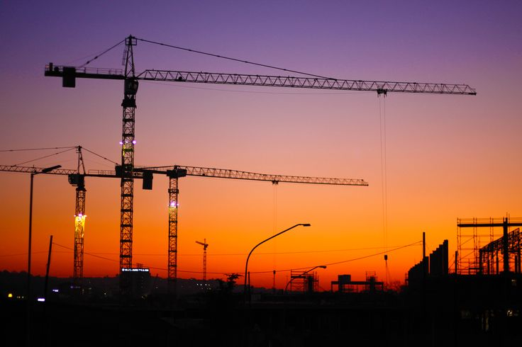 Menlyn Maine Construction Sunset