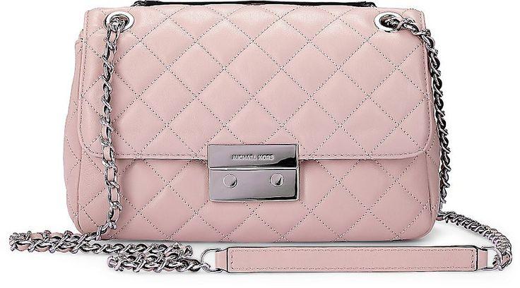 Stepp Tasche SLOAN von Michael Kors in rosa für Damen. Gr. 1