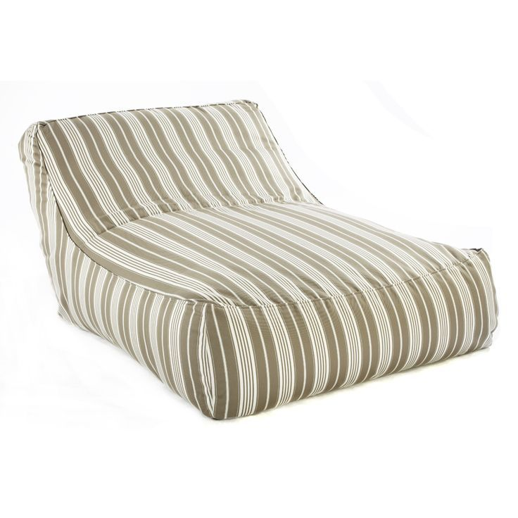 Zoe Lounge Verzelloni Oversize Outdoor Bean Bag Chair Lievore Altherr Molina Beige Stripe Modern