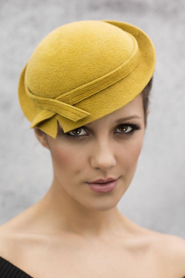 Felt Hat | Mustard