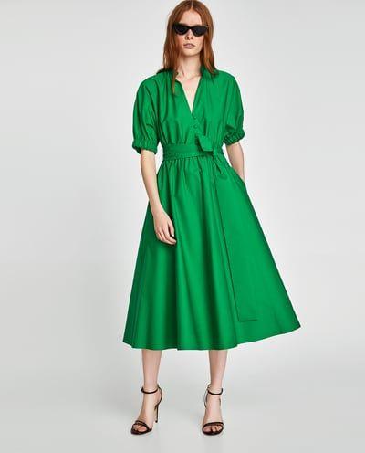 Vestidos verde zara