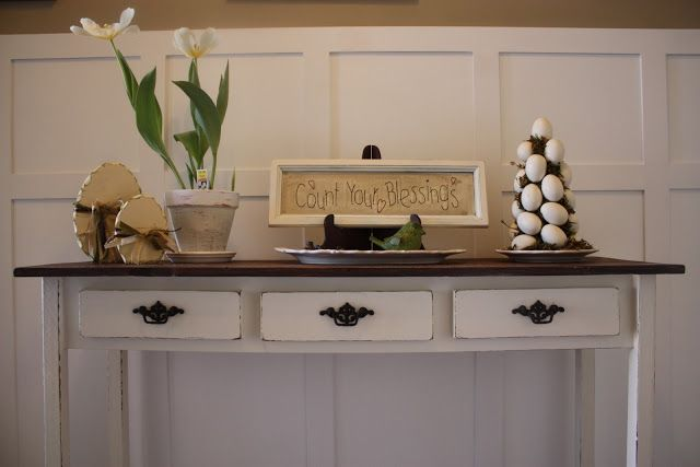 COUNTRY GIRL HOME : I built my own entry table!
