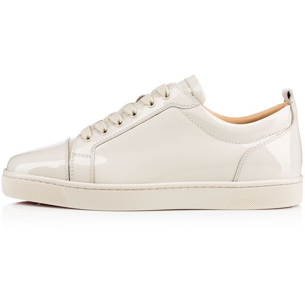 Louis Junior Men's Flat  Etain Patent Leather - Men Shoes - Christian... ($795) ❤ liked on Polyvore featuring men's fashion, men's shoes, mens flat shoes, christian louboutin mens shoes, mens patent shoes, mens patent leather shoes and mens shoes