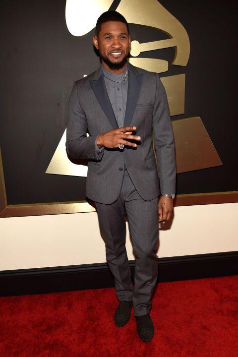 Usher looking hot AF, per usual. #GRAMMYs