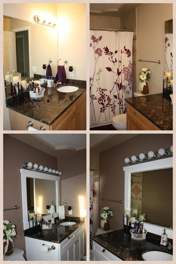 Our Bathroom Before Top And After Bottom We Framed