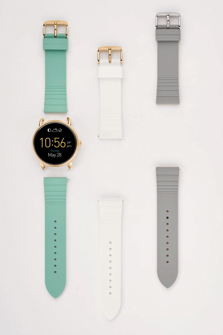 So many straps, so many options. We love the interchangeable straps for the Q Wander smartwatch.