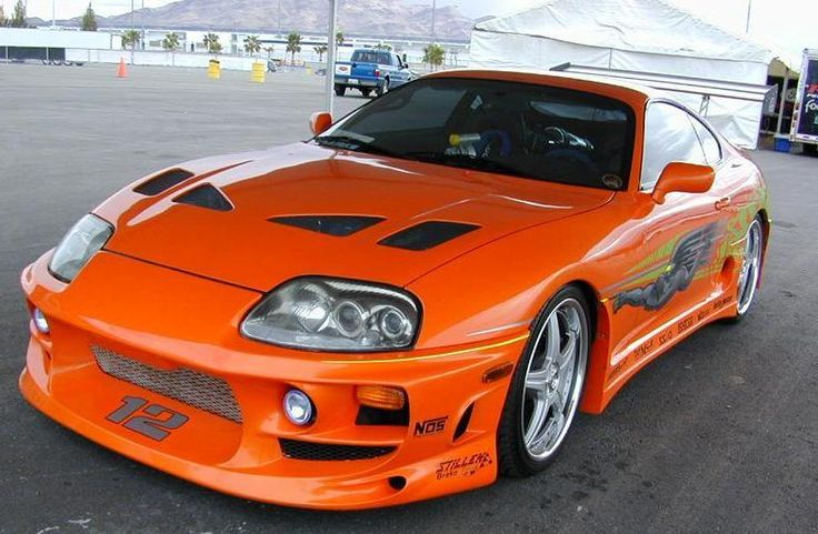 1994 Toyota Supra from The Fast and the Furious.Driven By:Paul Walker (Brian O'Conner).