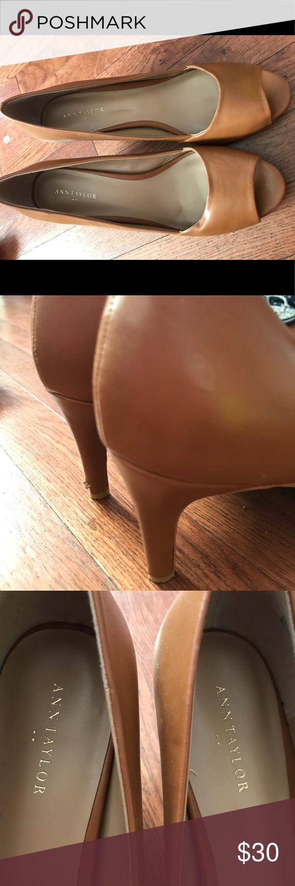 Ann Taylor Peep Toe Heels, Brown Ann Taylor peep toe heels worn a handful of times for Speech and Debate competitions! They are classy and professional heels and fit like a glove! Great condition! Ann Taylor Shoes Heels