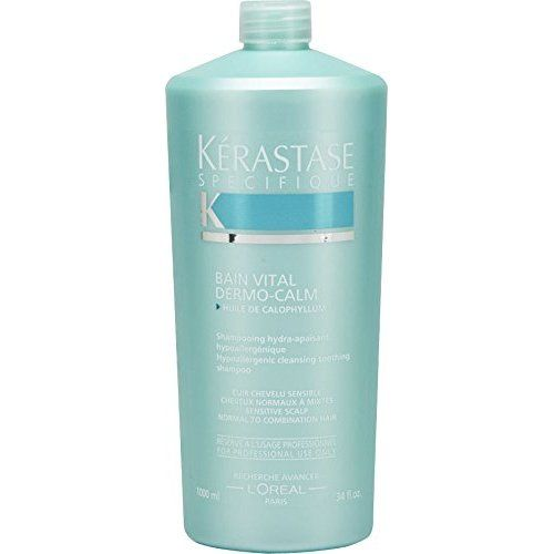 Kerastase Specifique Bain Vital Dermo-Calm Cleansing Soothing Shampoo (Sensitive Scalp, Combination Hair) 1000ml/34oz ** You can get more details by clicking on the image. #hairdesign