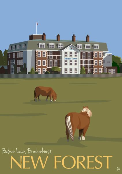 A5 Card (Balmer Lawn, Brockenhurst) from New Forest Originals