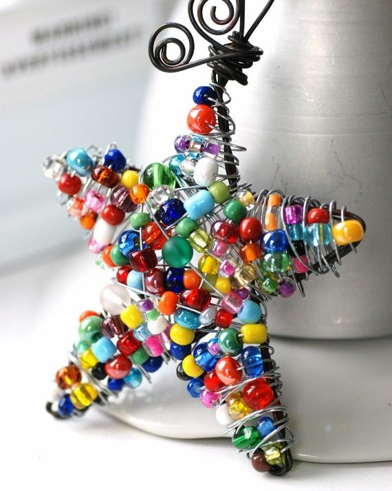 bead and wire ornament