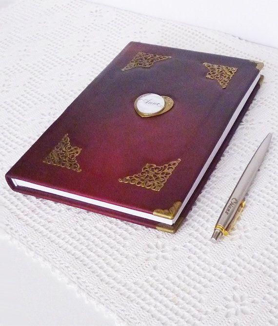 Personalized Leather Journal A5 Diary Birthday Guest Book #personalizedjournal, #leatherdiary, #burgundyjournal, #customjournal, #notebook, #giftforwomen, #giftforgirlfriend, #traveljournal, #bestfriend, #writingjournal, #journaldiary, #leathergift, #diary, #A5