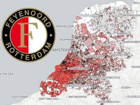 Hoe hard juicht deze regio voor de Feyenoord-titel?