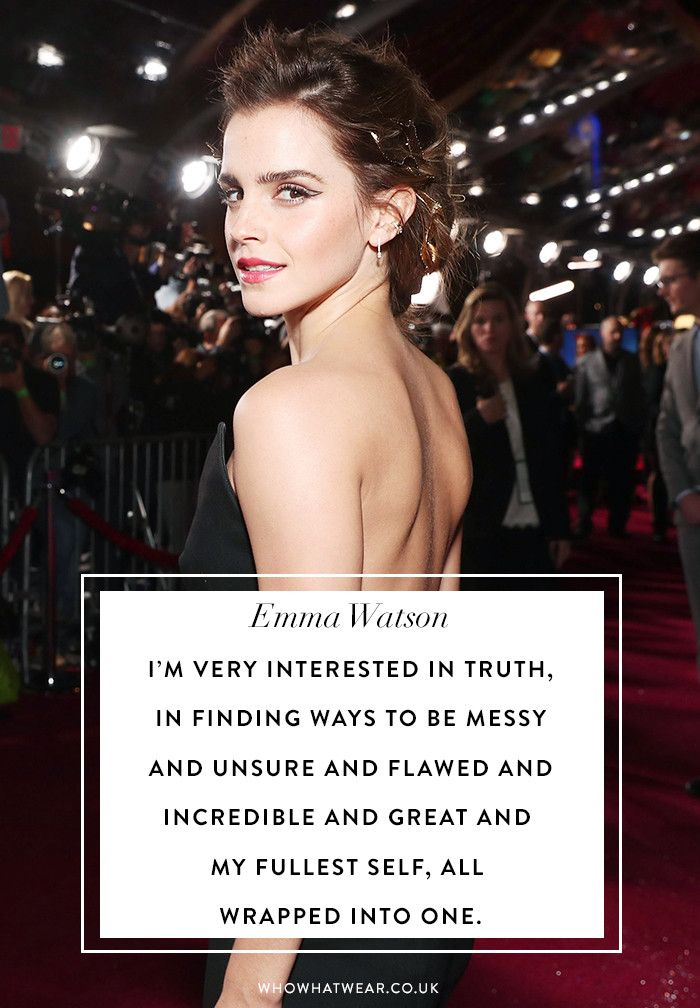 See 12 of the best quotes from Emma Watson on being a woman and living your best life.