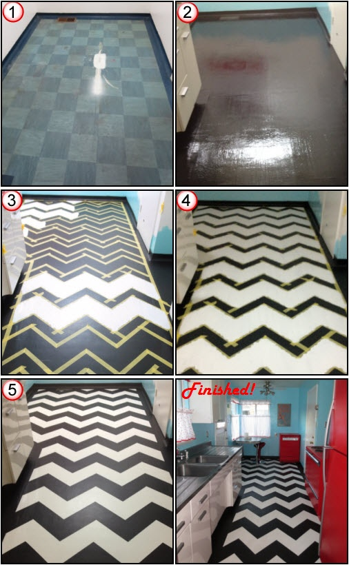 155 best kitchen images on pinterest bathroom bathrooms for Painting vinyl floor tile