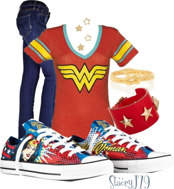 """Wonder Woman Converse   Converse Contest - Wonder Woman"""" by staceyj79 on Polyvore"""