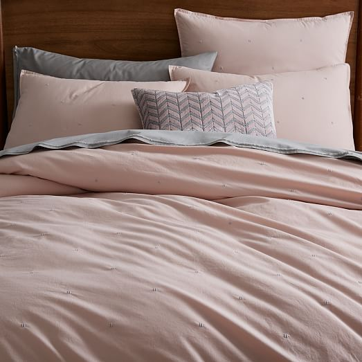 Organic Washed Cotton Duvet Cover   Shams #westelm