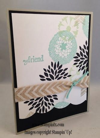 Such a pretty card Janet made using the new Petal Parade stamp set from Sale-a-Bration