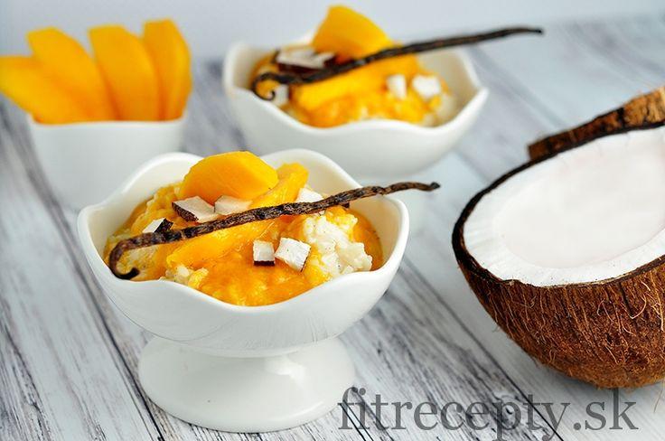 Vanilková mléčná rýže s mangem