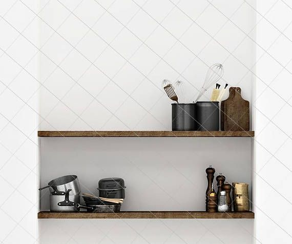 Kitchen Mock Up Blank Wall Photography Kitchen Wall Art Styled