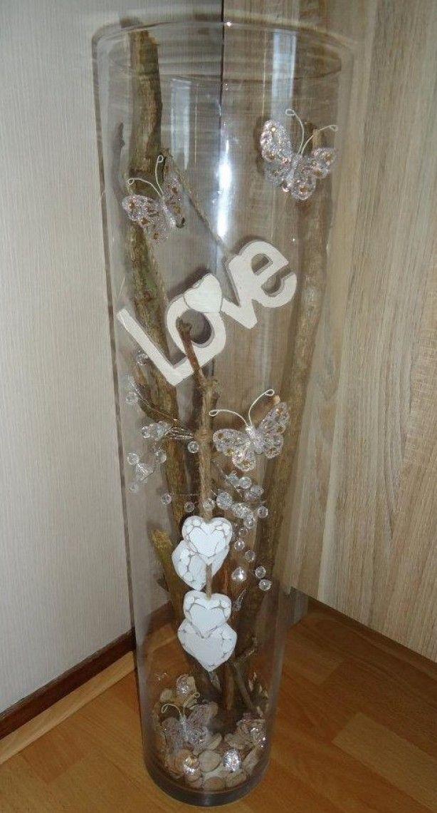 17 beste idee n over vaas decoraties op pinterest knutselen met gloeilampen drijvende kaarsen - Decoratie idee ...