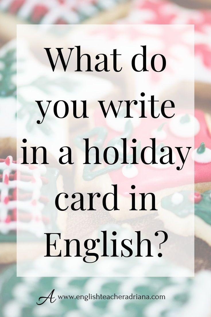 How To Write A Christmas Card English Writing Writing Grammar